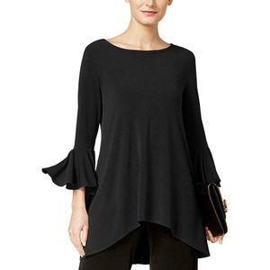 Women's Plus Size Li-Low Ruffle Sleeves Top Blouse